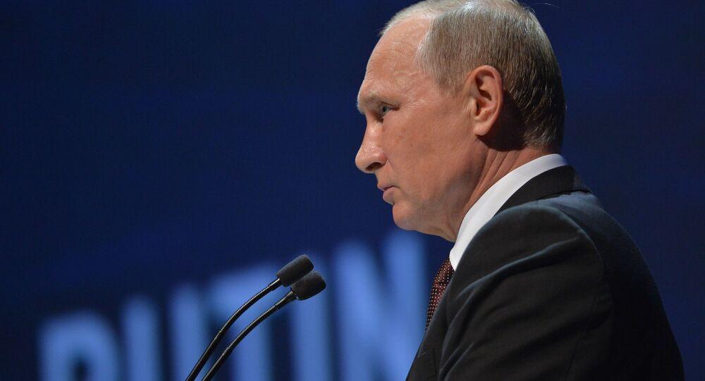 Prezydent Rosji Władimir Putin podczas 23. Światowego Kongresu Energetycznego w Stambule