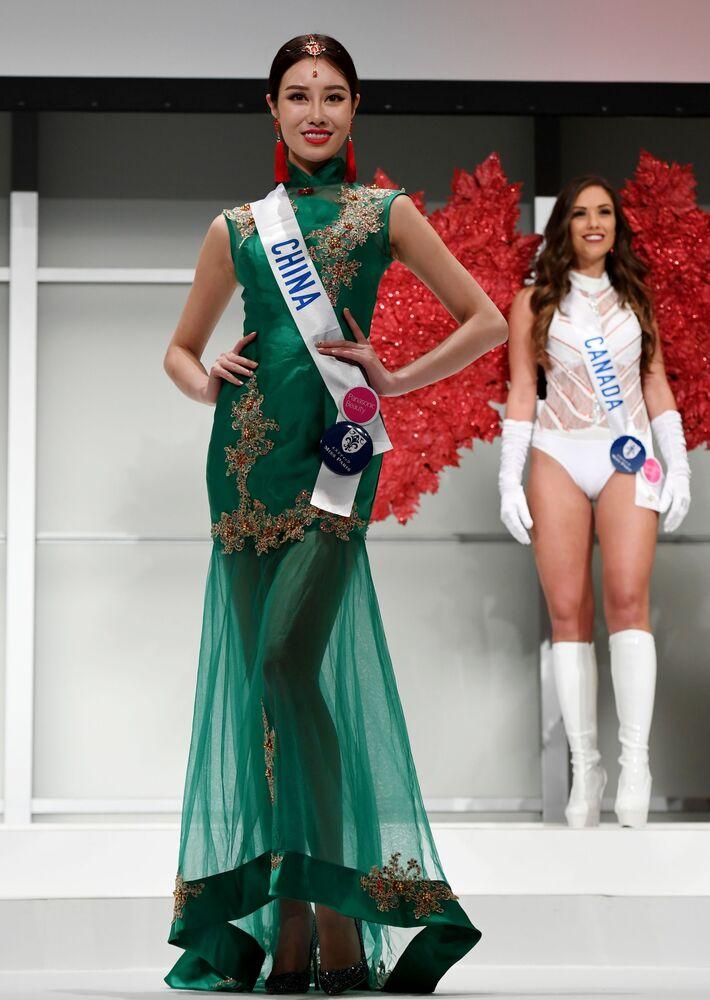 Miss Chin podczas konkursu Miss International Beauty Pageant 2016 w Tokio