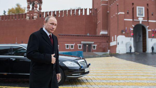 Władimir Putin na Placu Czerwonym - Sputnik Polska