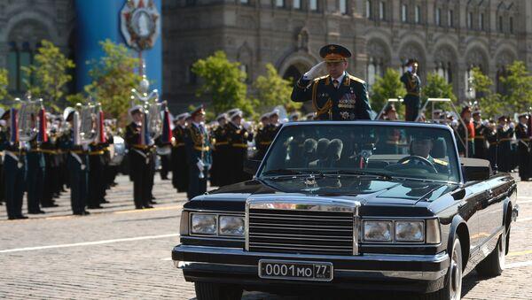 Parada w Dzień Zwycięstwa, minister obrony Rosji Siergiej Szojgu - Sputnik Polska