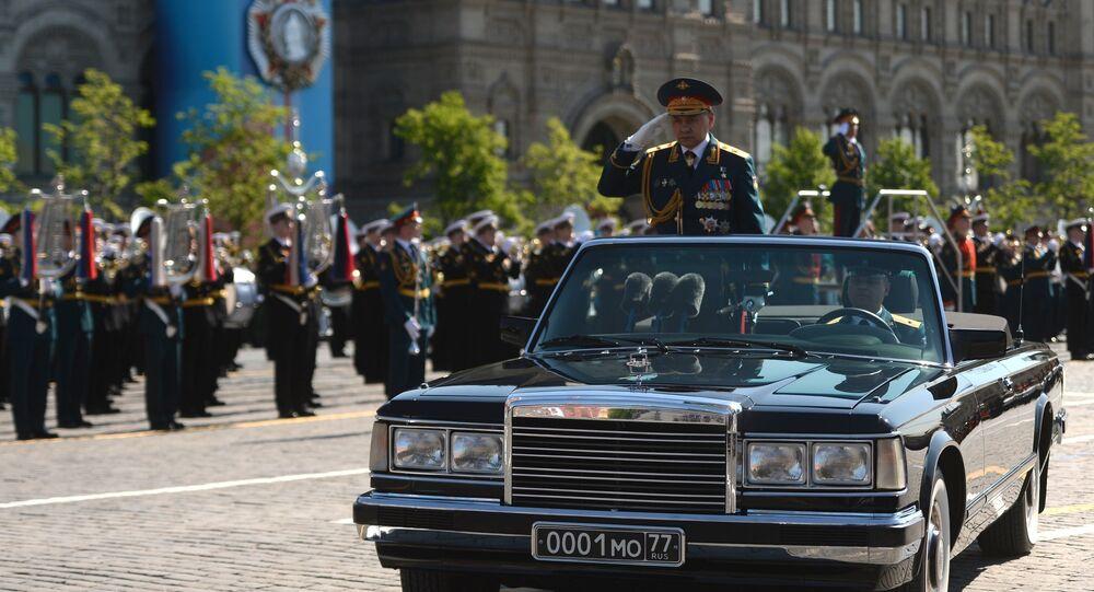 Parada w Dzień Zwycięstwa, minister obrony Rosji Siergiej Szojgu