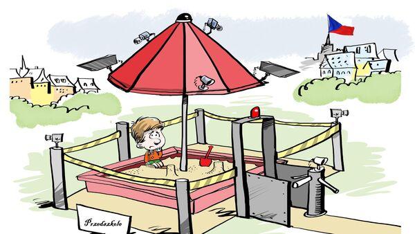 Karykatura - skanery linii papilarnych w obronie dzieci - Sputnik Polska