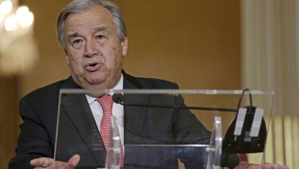 Nowy sekretarz generalny ONZ Antonio Guterres - Sputnik Polska