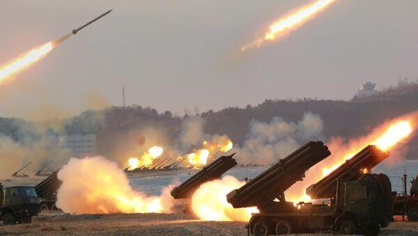 Próby rakietowe w Korei Północnej, marzec 2016 - Sputnik Polska