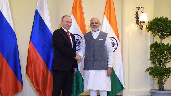 Władimir Putin i Narendra Modi - Sputnik Polska