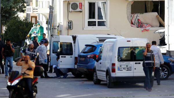 Policja na miejscu wybuchu w tureckim Gaziantep - Sputnik Polska