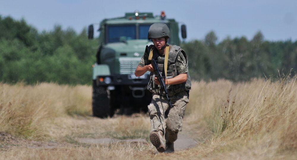 Ćwiczenia ukraińskich wojsk granicznych