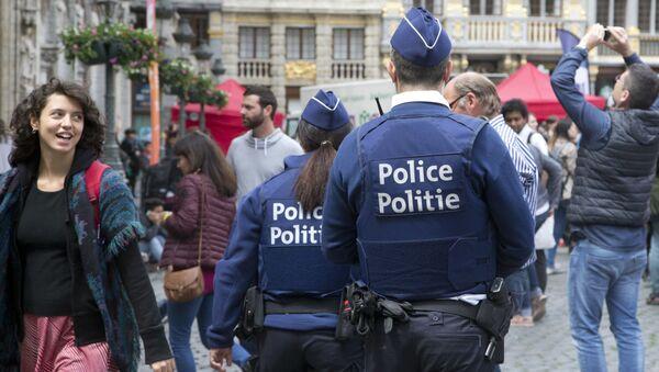 Policja w Brukseli - Sputnik Polska
