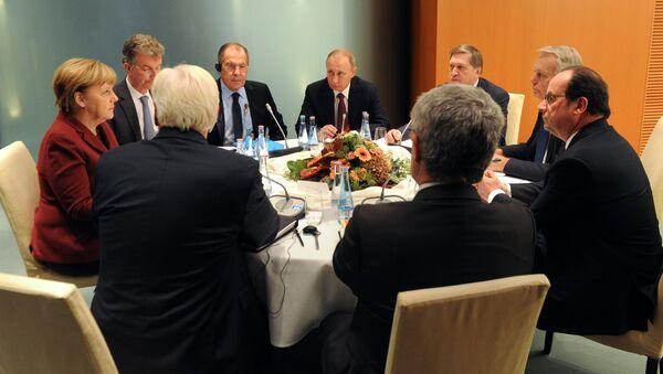 Spotkanie liderów czwórki normandzkiej w Berlinie - Sputnik Polska