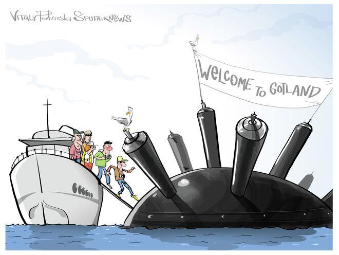 Witamy na Gotland! Mamy dobre miny!