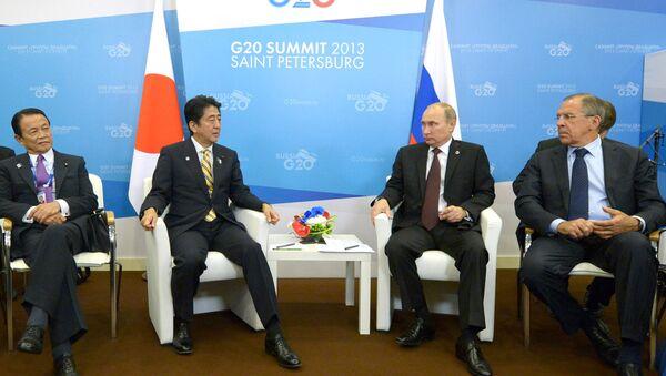 Spotkanie Władimira Putina z Shinzo Abe - Sputnik Polska