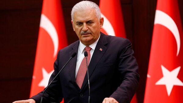 Premier Turcji Binali Yıldırım - Sputnik Polska
