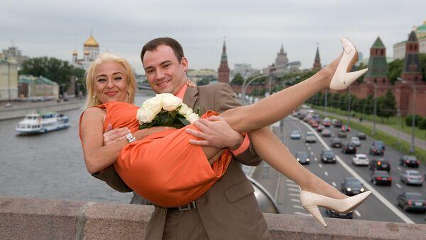 Nasz ślub w Moskwie, 2009 rok. - Sputnik Polska