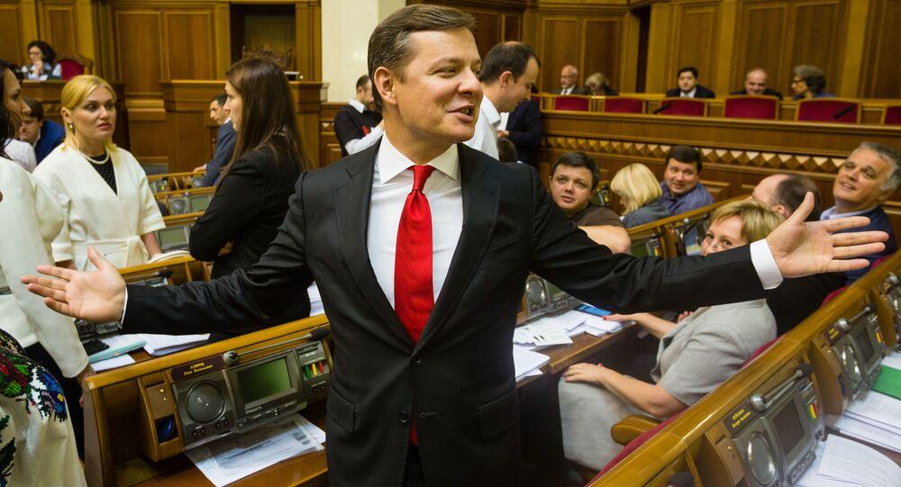 Lider Partii Radykalnej Ukrainy Ołeh Laszko
