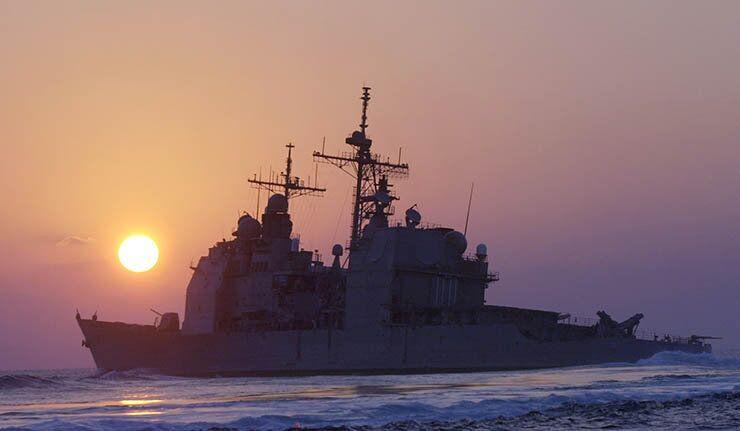 Krążownik amerykański Vella Gulf na Morzu Czarnym