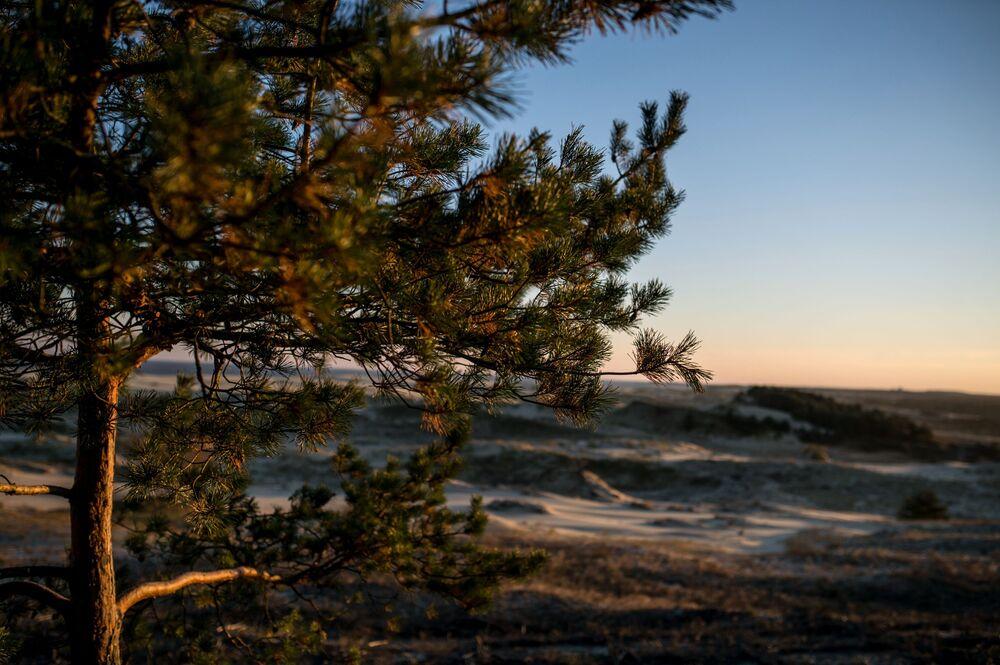 Mierzeja Kurońska uważana jest za największy wał piaskowy na świecie.