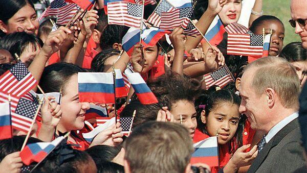 Wizyta Władimira Putina w USA, 2001 rok - Sputnik Polska