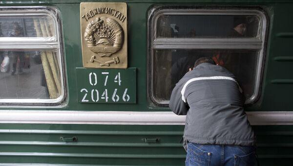 Przybycie pociągów z Azji Środkowej do Moskwy - Sputnik Polska
