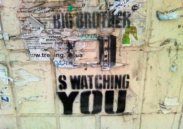 Graffiti z motywem 1984 Georga Orwella