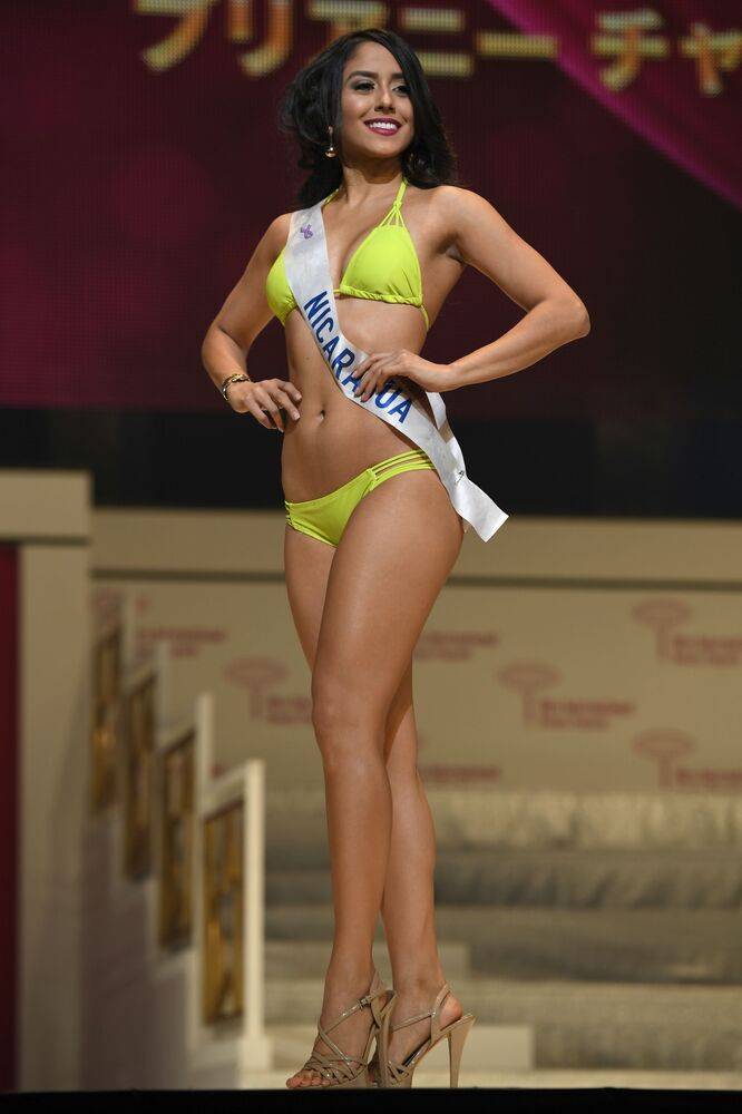 Miss Nikaragua podczas prób finału konkursu piękności Miss International Beauty Pageant  w Tokio