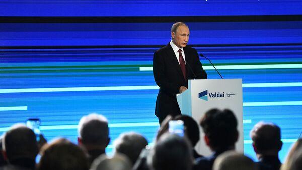 Prezydent Rosji Władimir Putin na posiedzeniu Klubu Wałdajskiego - Sputnik Polska