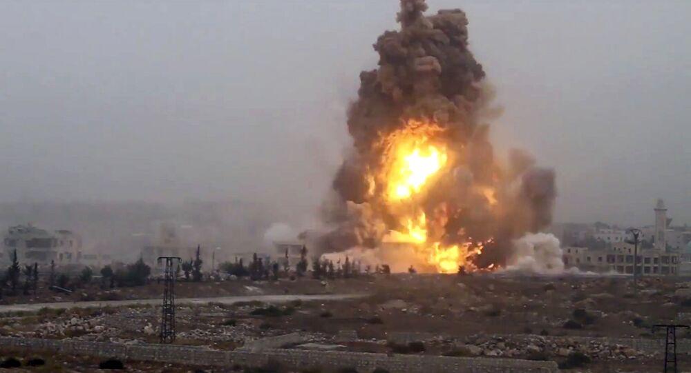 Wybuch od ataku bojowników