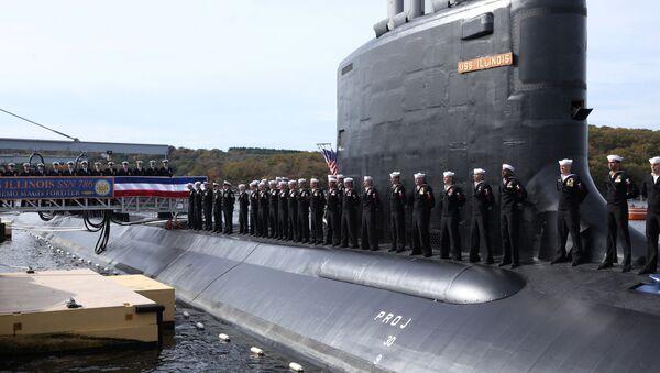 Ceremonia wodowania atomowego okrętu podwodnego amerykańskiej marynarki wojennej USS Illinois - Sputnik Polska