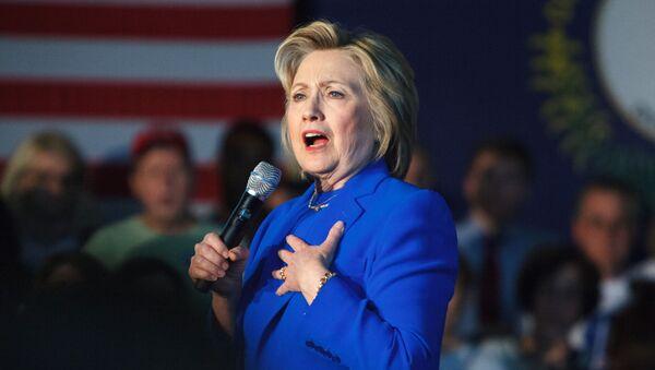 Kandydatka na prezydenta USA Partii Demokratycznej Hillary Clinton - Sputnik Polska