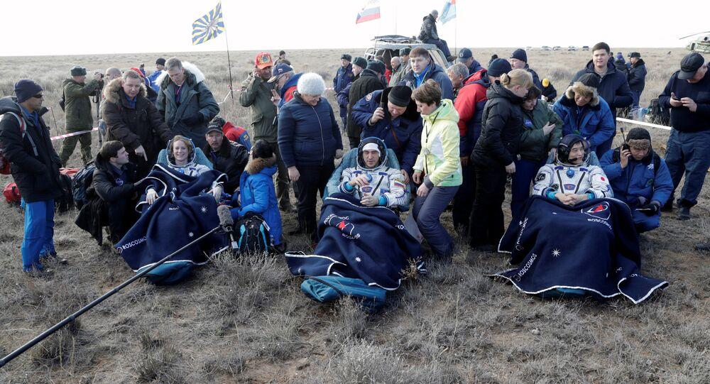 Powrót załogi MSK na Ziemię