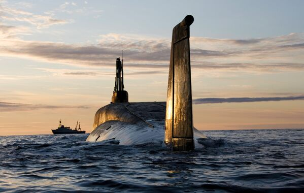 Rosyjski okręt podwodny Jurij Dołgoruki - Sputnik Polska