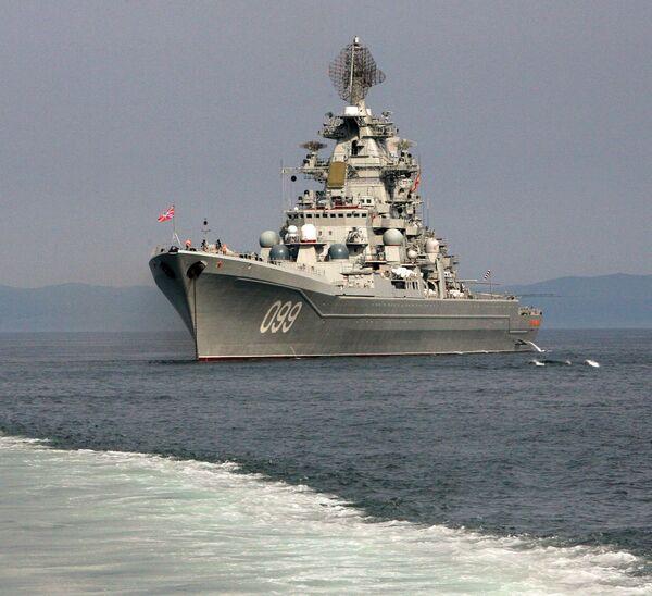 Krążownik rakietowy z napędem atomowym Piotr Wielikij - Sputnik Polska