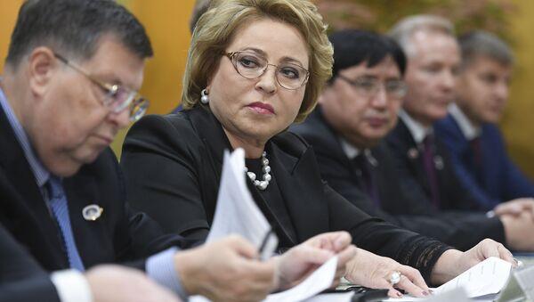 Przewodnicząca Rady Federacji Rosji Walentyna Matwijenko podczas wizyty w Japonii - Sputnik Polska