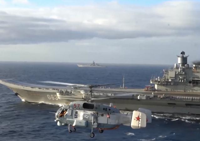 Admirał Kuzniecow na Morzu Śródziemnym
