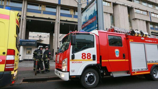 Straż pożarna pod siedzibą agencji MIA Rossiya Segodnya - Sputnik Polska