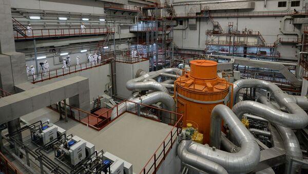 Centralna hala 4. bloku energetycznego z reaktorem BN-800 w Biełojarskiej Elektrowni Atomowej w mieście Zareczny w obwodzie swierdłowskim  - Sputnik Polska