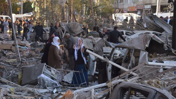 W wybuchu samochodu pułapki w mieście Diyarbakir na południowym wschodzie Turcji zginęło 8 osób, a ponad 100 zostało rannych - Sputnik Polska