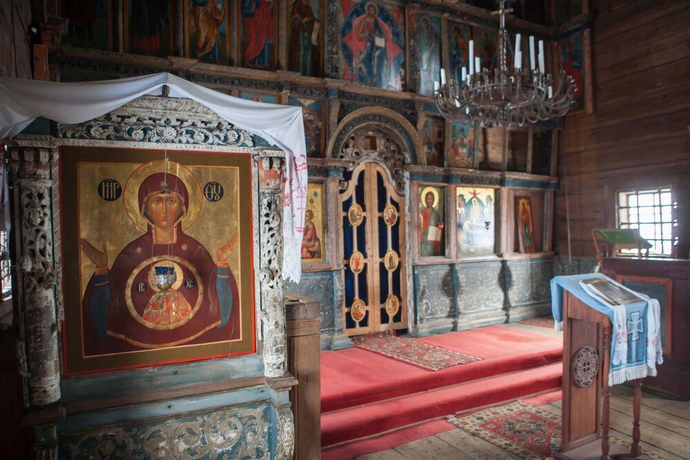 Podczas świąt prawosławnych w cerkwi odbywaja się nabożeństwa, przeważnie latem.