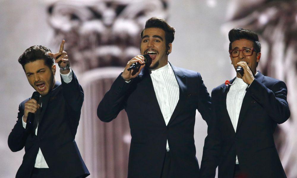 Włoski espół  Il Volo podczas wystąpienia na Eurowizji-2015