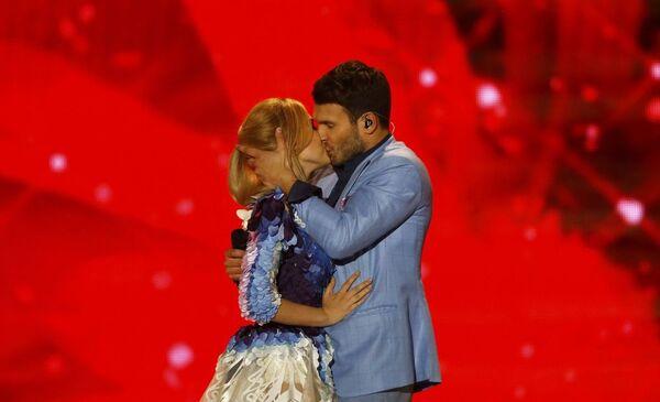 Monika Linkyte i Vaidas Baumila z Litwy podczas  wystąpienia na Eurowizji-2015 - Sputnik Polska