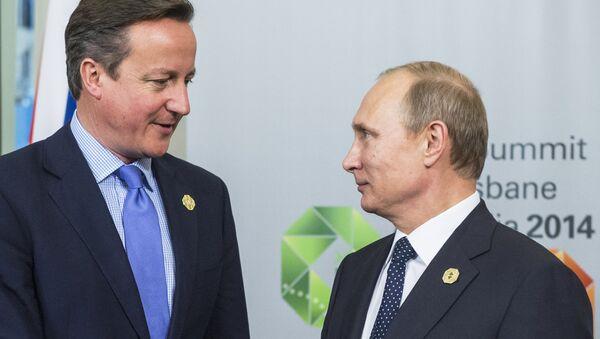 Władimir Putin i David Cameron - Sputnik Polska