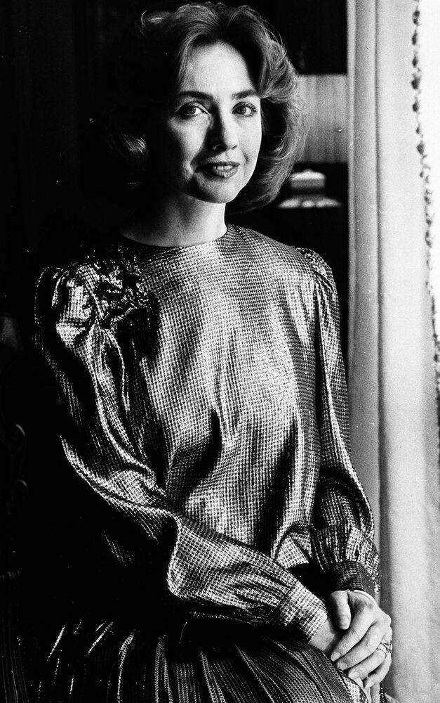 Pierwsza dama stanu Arkanzas Hillary Clinton w 1985 roku