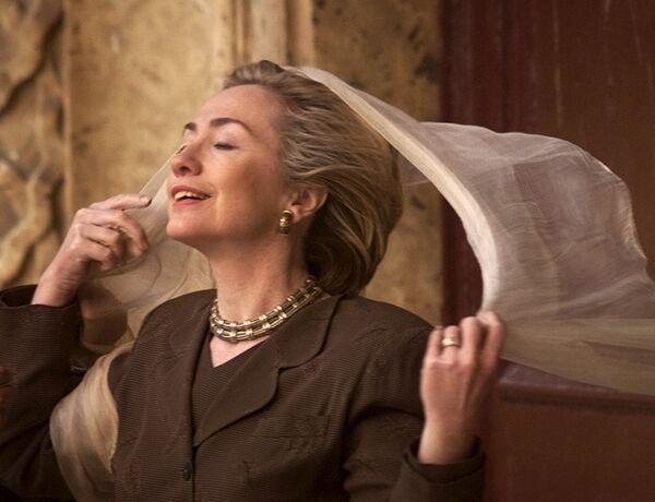 Hillary Clinton jako pierwsza dama USA w Kairze w 1999 roku - Sputnik Polska