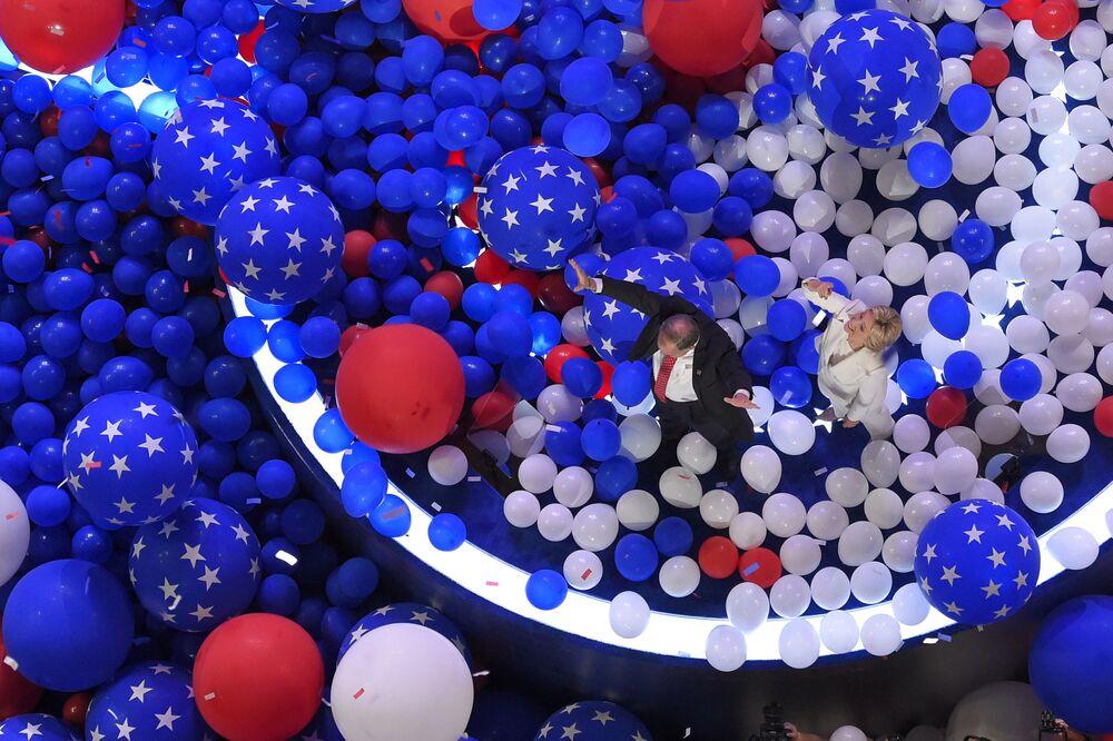 Kandydatka na prezydenta USA Hillary Clinton w Filadelfii