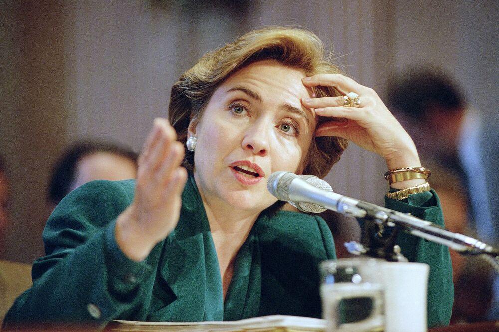 Hillary Clinton jako pierwsza dama USA w 1993 roku