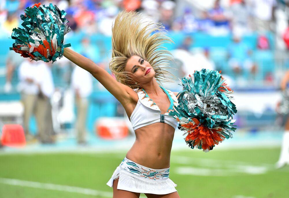 Cheerleaderka drużyny Miami Dolphins