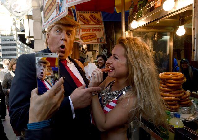 Sobowtór Donalda Trumpa podczas wyborów prezydenckich w USA 2016