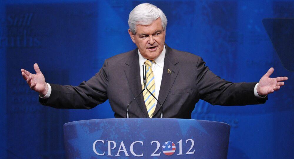Amerykański polityk Newt Gingrich