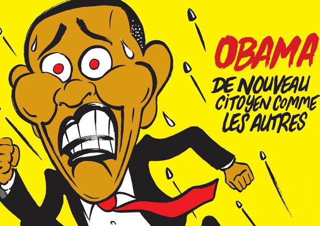 Karykatura Obamy w Charlie Hebdo