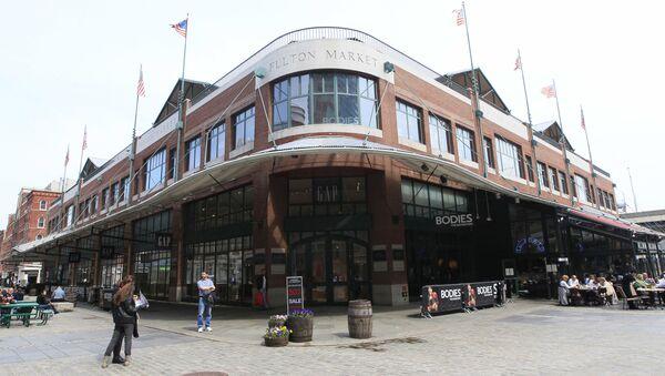 Budynek Fulton Market w  Nowym Jorku - Sputnik Polska