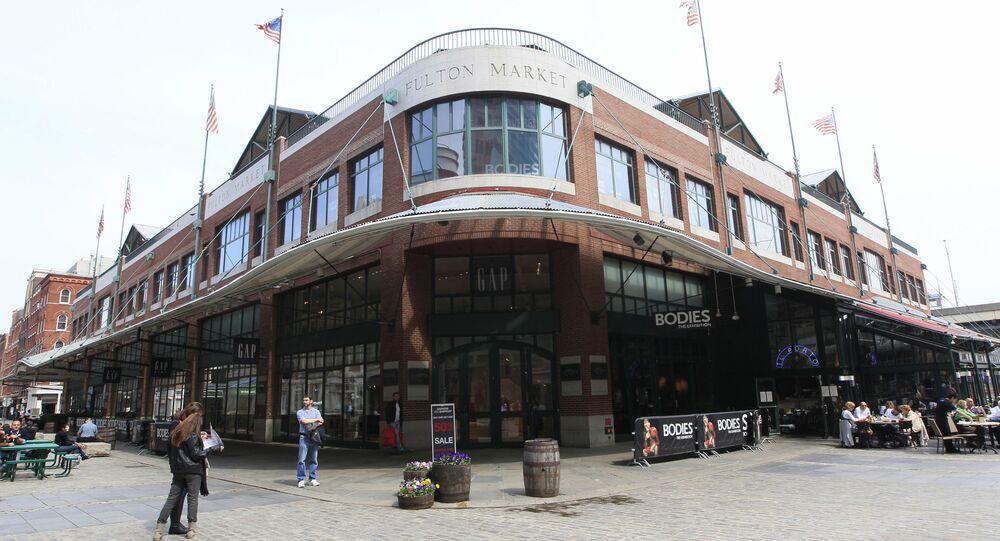 Budynek Fulton Market w  Nowym Jorku